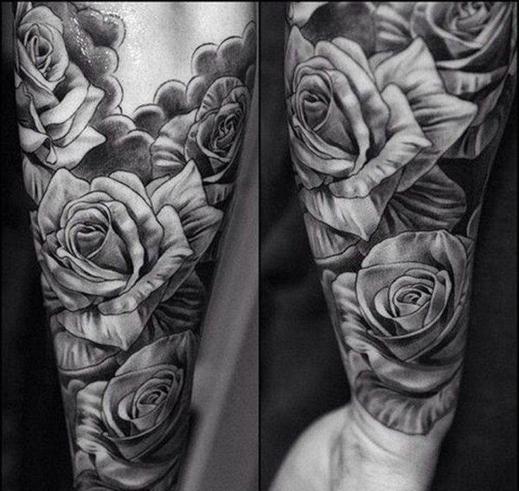 Black Amp Gray Tattoos Black And Grey Rose Tattoos For Men pertaining to Black…