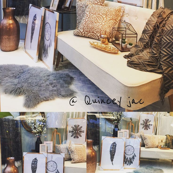 New window #prints #copper #feathers #art #grey #twoseater #homedecor #gifts #quinceyjac