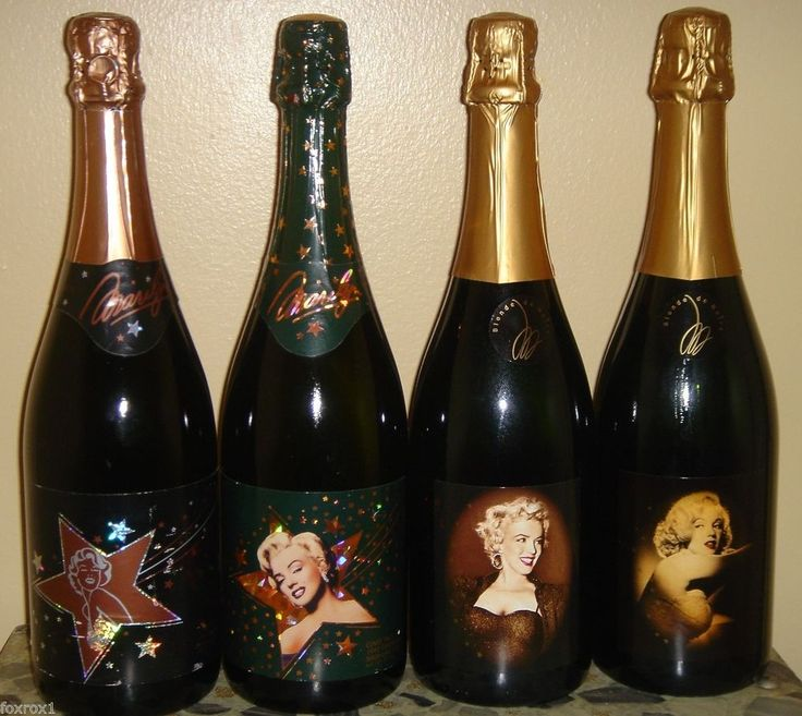 Marilyn Monroe 1990 Cuvee One 1992 Two 2001 2004 Sparkling Wine Champagne 4 Set #MarilynMonroe