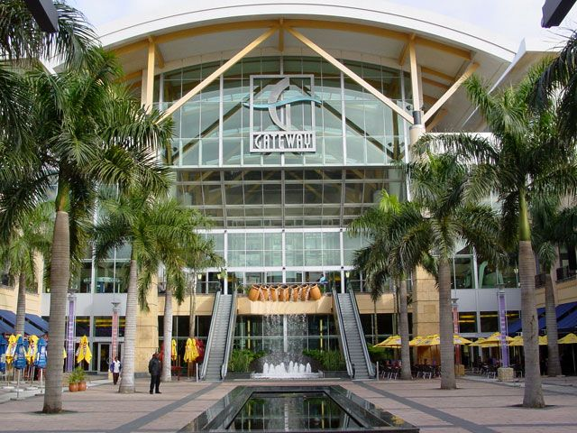 Umhlanga, Gateway Shopping Mall, South Africa. With water theatre and place for surfing