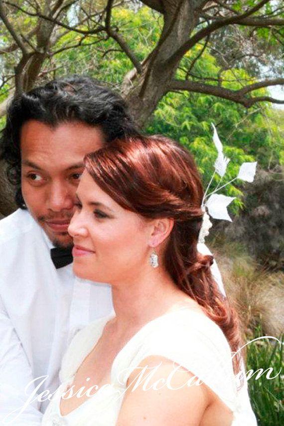 Bespoke DESIGN for white fascinator or headpiece bride