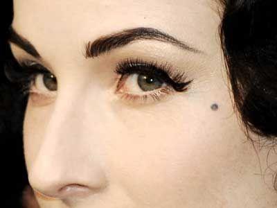 I want my piercing to look like a beauty mark tattoos for Beauty mark tattoo