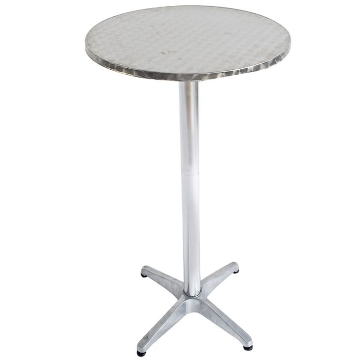 Inox bar garden bar table aluminum D60x110 Ε2710