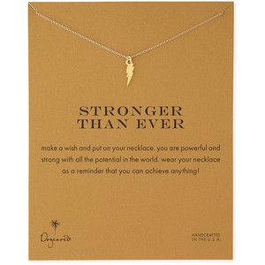 Dogeared Stronger Than Ever Gold-Dipped Necklace