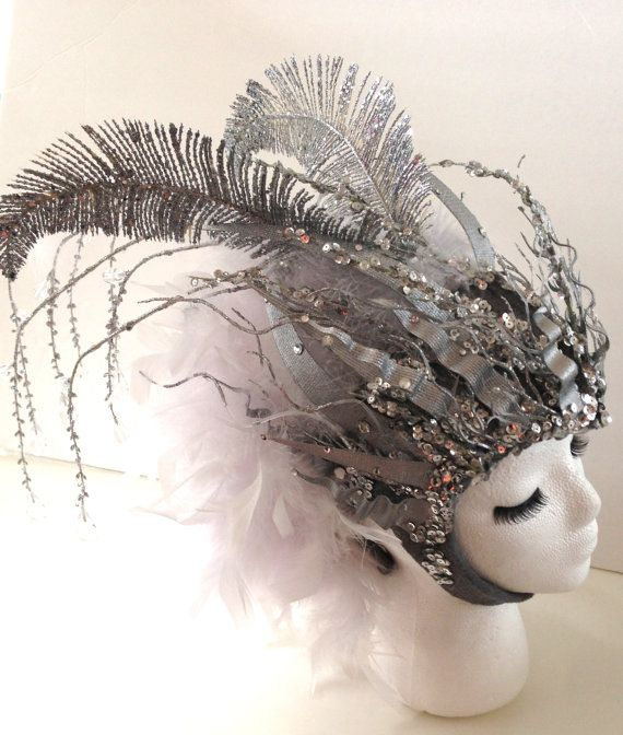 Goddess of AIR Gemini Headpiece silver and door EZorangeDesign