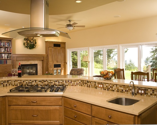 1000 ideas about island range hood on pinterest island for Bi level kitchen ideas