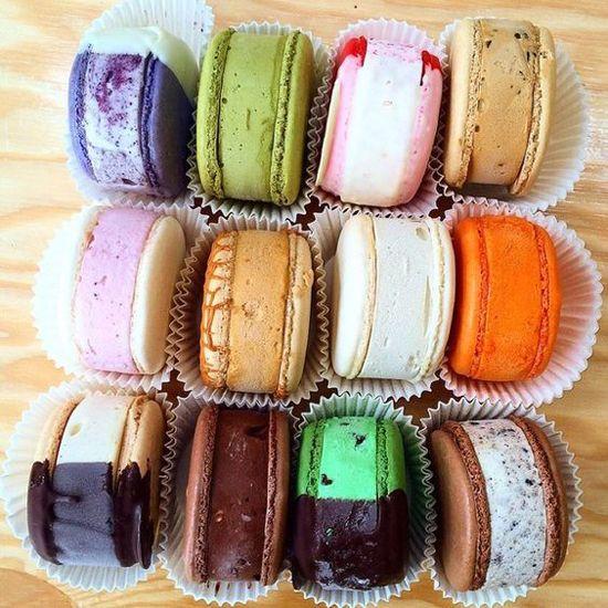 About Town / La Ice Cream - MILK macaron ice cream sandwiches