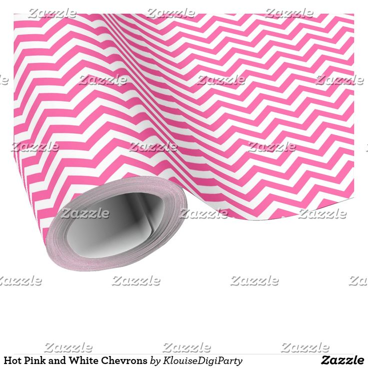 Hot Pink and White Chevrons Wrapping Paper