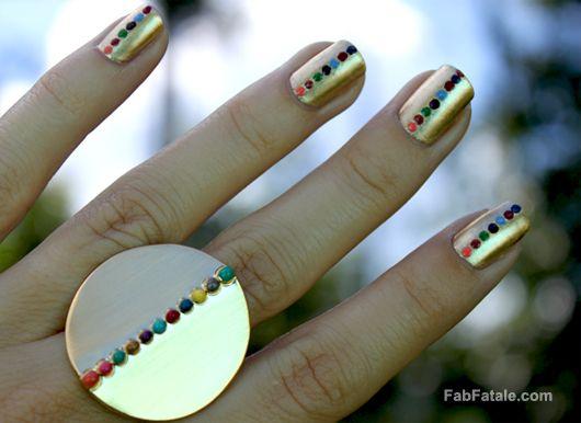 the midas touch maniHairrr Nailsss, Nails Nails, Cool Fingernail, Fingernail Art, Nails Design, Manicures, Nails Polish, Nails Art Design, The Dots