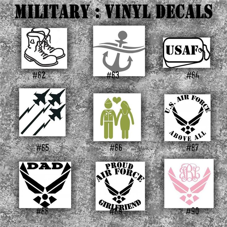 MILITARY Vinyl Decals Vinyl Sticker Car Decal Car - Window decal custom vinyl