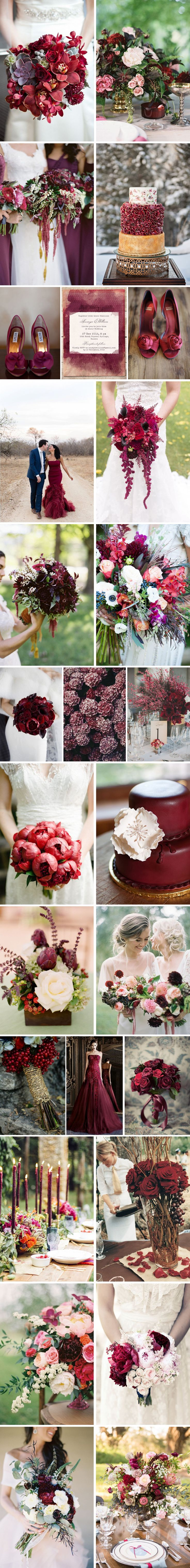 pantone color of 2015 marsala wedding inspiration