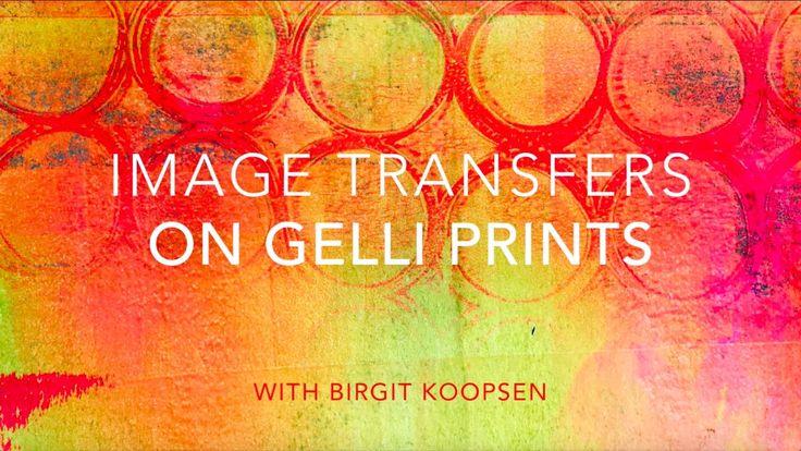 Video Tutorial by #birgitkoopsen - Beautiful Image Transfers on Gelli® Printed Backgrounds! Follow along with Birgit Koopsen and learn the secrets to successful image transfers on Gelli® printed backgrounds!