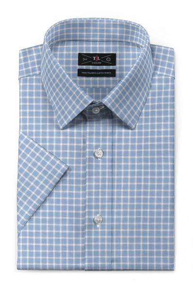 Blue short sleeved checked linen Shirt https://www.hockerty.com/en-us/men/shirts/3313-blue-short-sleeved-checked-linen-shirt
