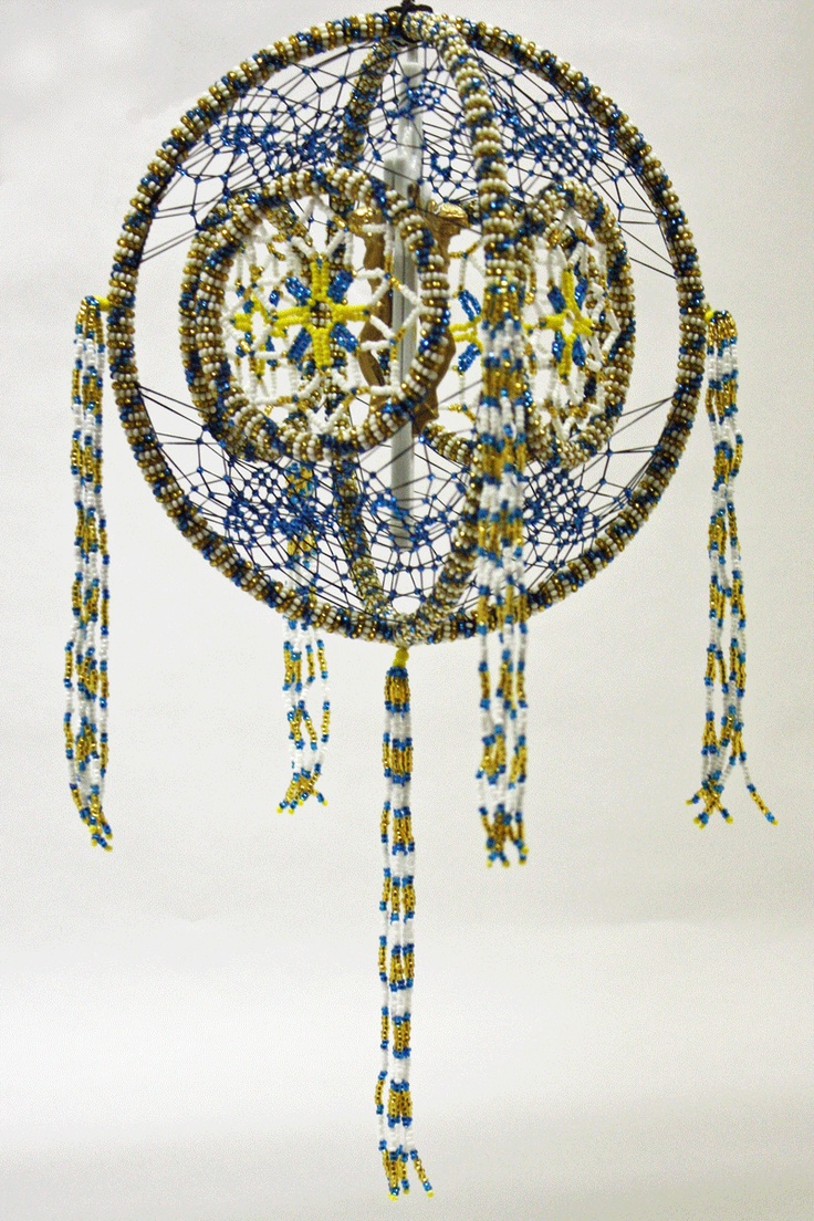 Dream Catcher made by: Christopher Vital from Behchokö, NT. $104.00