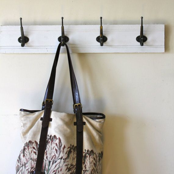 Simple White Coat Rack by bluebirdheaven on Etsy, $45.00 for entry way