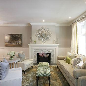 Gray Walls, Transitional, living room, Pratt and Lambert Gray Moire, Meredith Heron Design