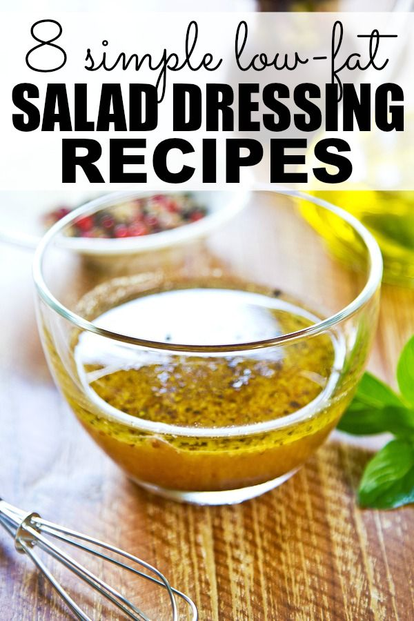 If you're trying to lose weight by opting for healthy recipes, but have a weakness when it comes to salad dressing, you will love this collection of easy-to-make and low-fat salad dressing recipes!