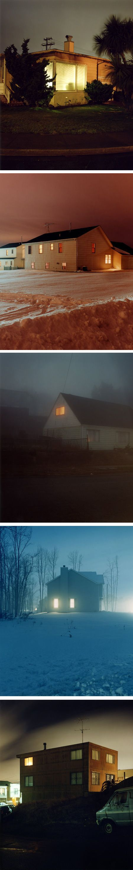 Todd Hido - I have considered doing a project like this, not because I like looking in people's windows, but because I love the way light looks through windows at night!