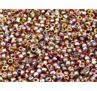 MATUBO 7/0 Czech Glass Seed Beads Magic Red-Yellow