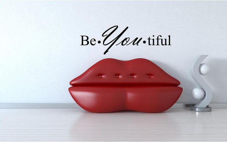Be-You-tiful custom vinyl wall decals, stick on wallart, wall decals living room #Unbranded #Modern