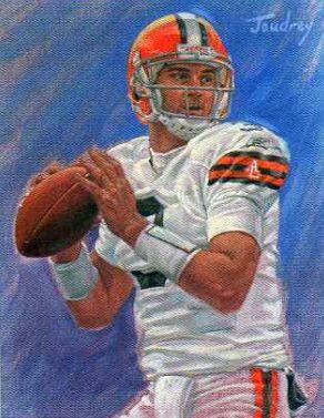 Derek Anderson, Cleveland Browns by Ken Joudrey, 2008.