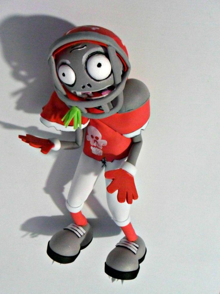 Plants vs Zombies  Zombie deportista: Lleva un uniforme de fútbol americano. versión fofucho