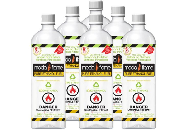 Fuel 6 Liter Bio-fuel Ethanol Fuel (6 Bottles)
