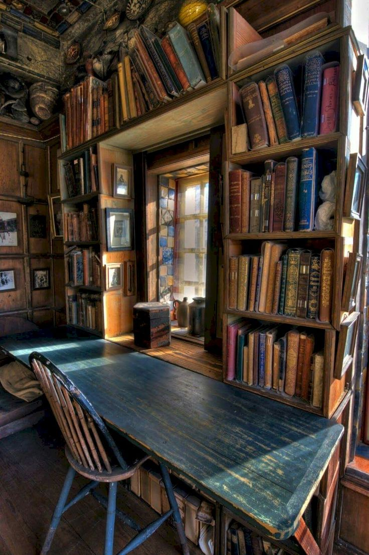 40+ Stunning Home Libraries with Rustic Design