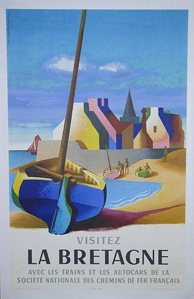 La-Bretagne--vintage travel poster, beautifully done