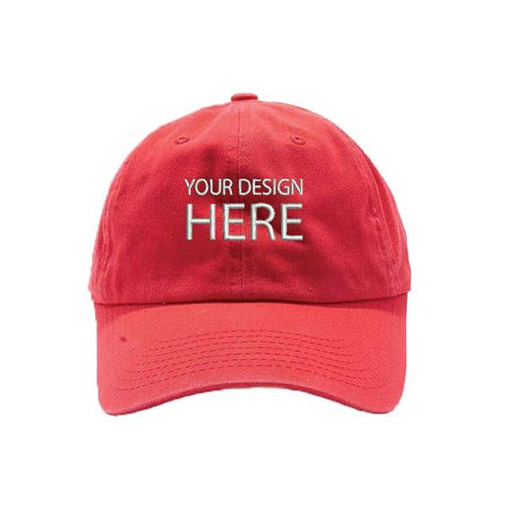 Custom Embroidered Hats / Dad Hat / Embroidery Baseball Cap / Personalize Your Hat / Make Your Statement / Red Dad Cap / FREE SHIPPING