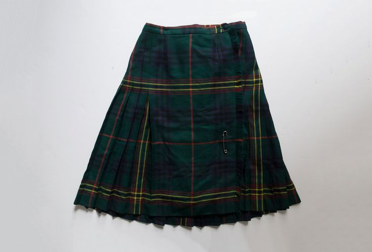vintage highland queen skirt by Tomorrownever on Etsy