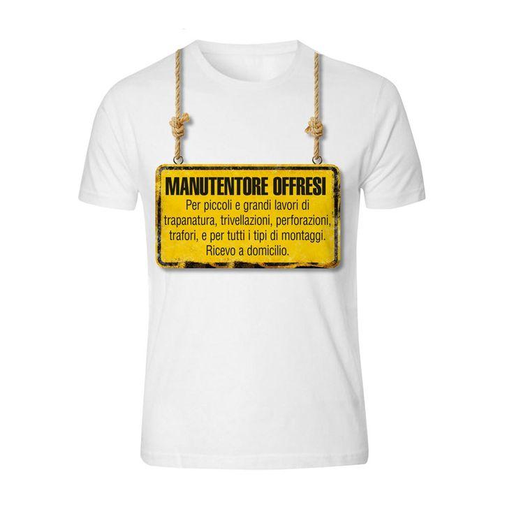 T-shirt offresi manutentore - Auguri personalizzati