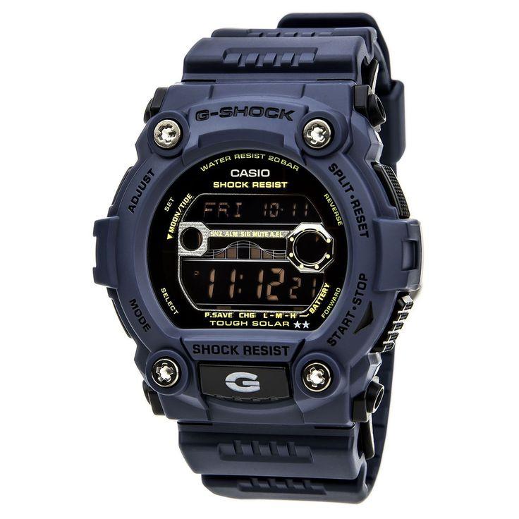 Casio GR7900NV-2 Men's G-Shock Solar Navy Military Blue Bezel Digital Dive Watch
