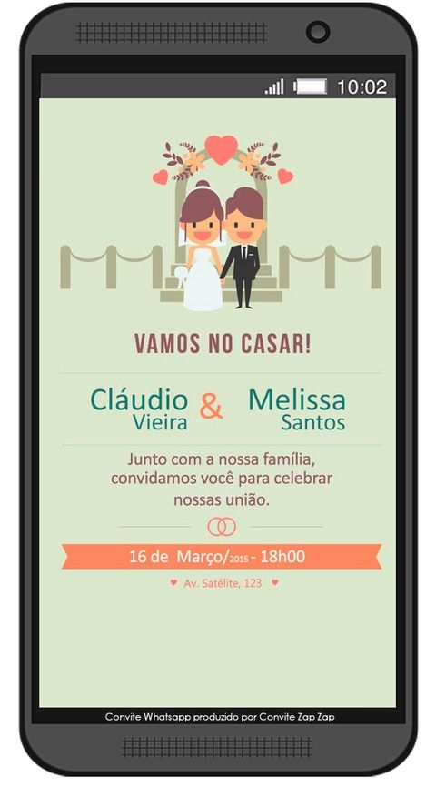 Convite de Casamento Whatsapp Perfeito