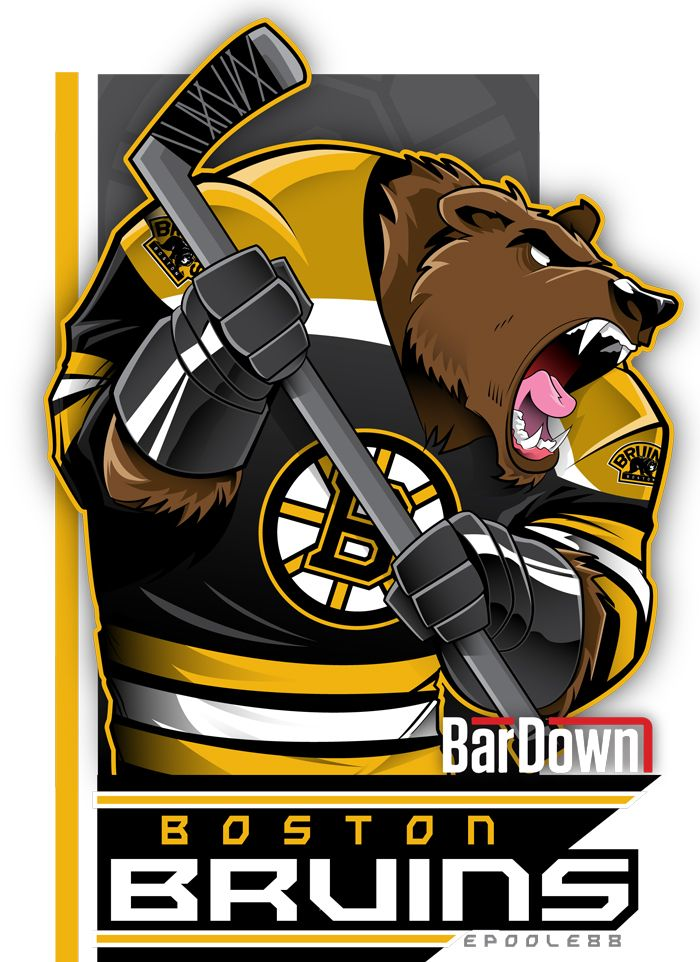 The dirty, rotten, stinkin' Boston Bruins, as rendered by epoole88.  Check out Eric Poole's work at epoole88.tumblr.com