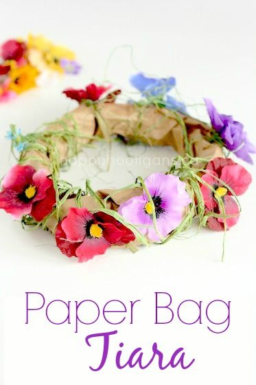 paper bag tiara an enchanting spring craft for little girls - Spring Pictures For Kids
