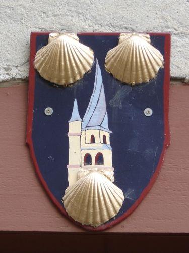 Écusson avec son clocher tors - Saint-Côme-d'Olt, Aveyron.