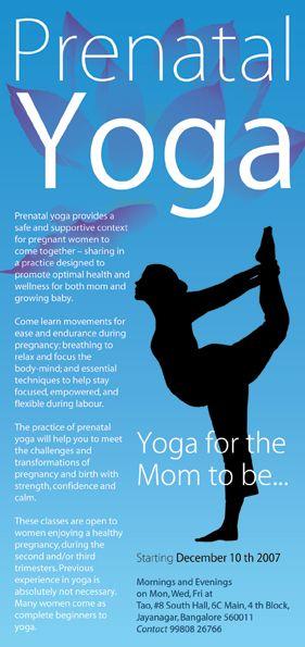 Best Yoga Flyer Images On   Flyer Design Brochure