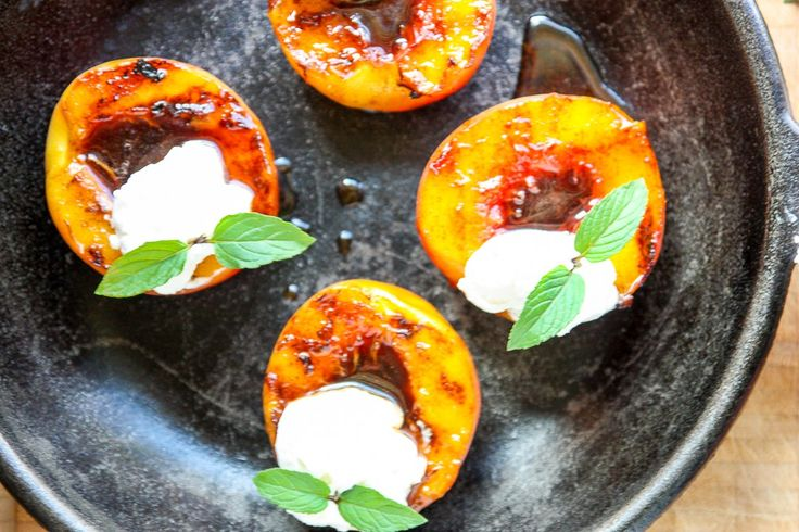 Spiced Rum Grilled Peaches - Grilled Peaches Recipe