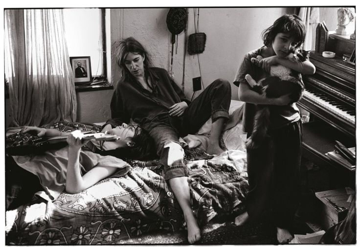 Patti Smith with her children, Jackson and Jesse, St. Clair Shores, Michigan by Annie Leibovitz