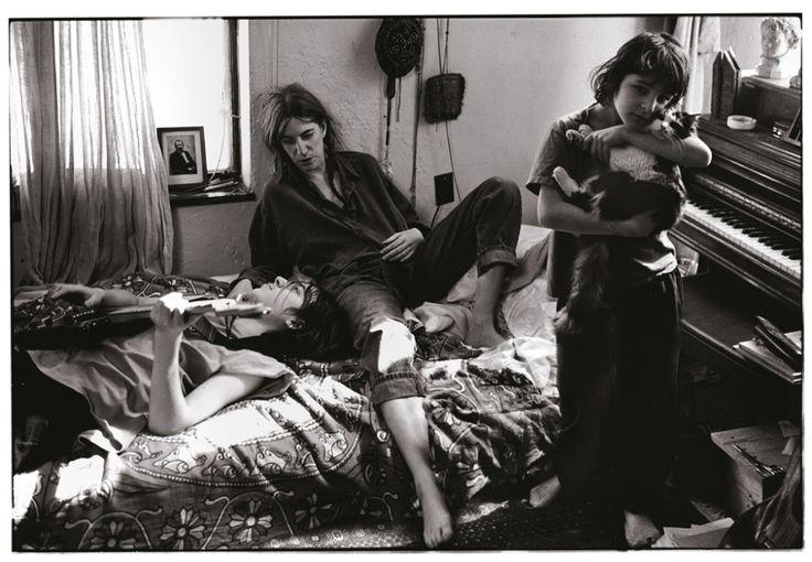 Patti Smith with her children, Jackson and Jesse, St. Clair Shores, Michigan by Annie Leibovitz
