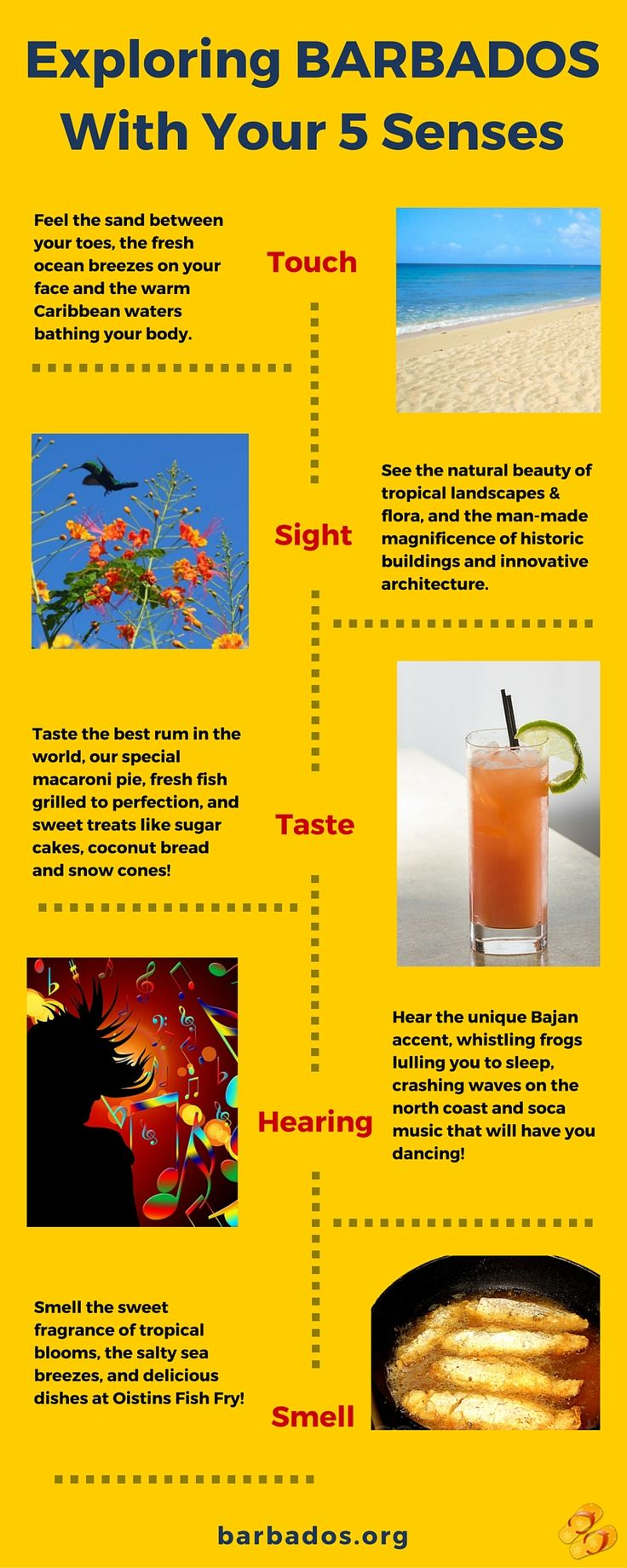 Explore #Barbados with your 5 senses!