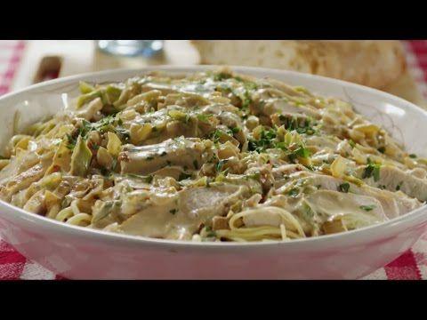Курица в сливочном соусе со спагетти - пошаговый рецепт с фото