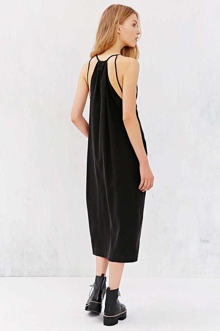 Silence + Noise Sedona Plunge Midi Dress - Urban Outfitters