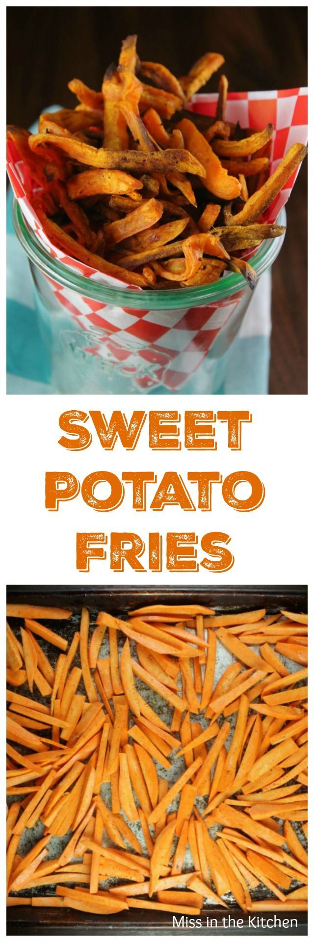 Sweet Potato Fries is the perfect side dish for burgers, steaks and more from the new TCHS Cookbook Found at MissintheKitchen.com #ad