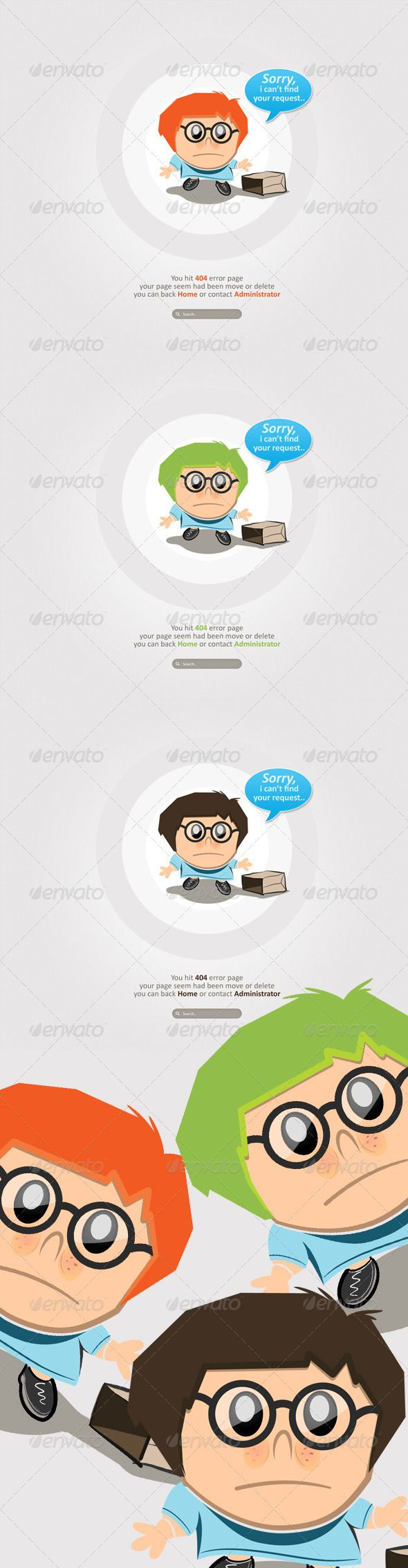 Clean and Simple Character 404 Error  - 404 Pages Web Elements Download here : https://graphicriver.net/item/clean-and-simple-character-404-error-/2621760?s_rank=214&ref=Al-fatih