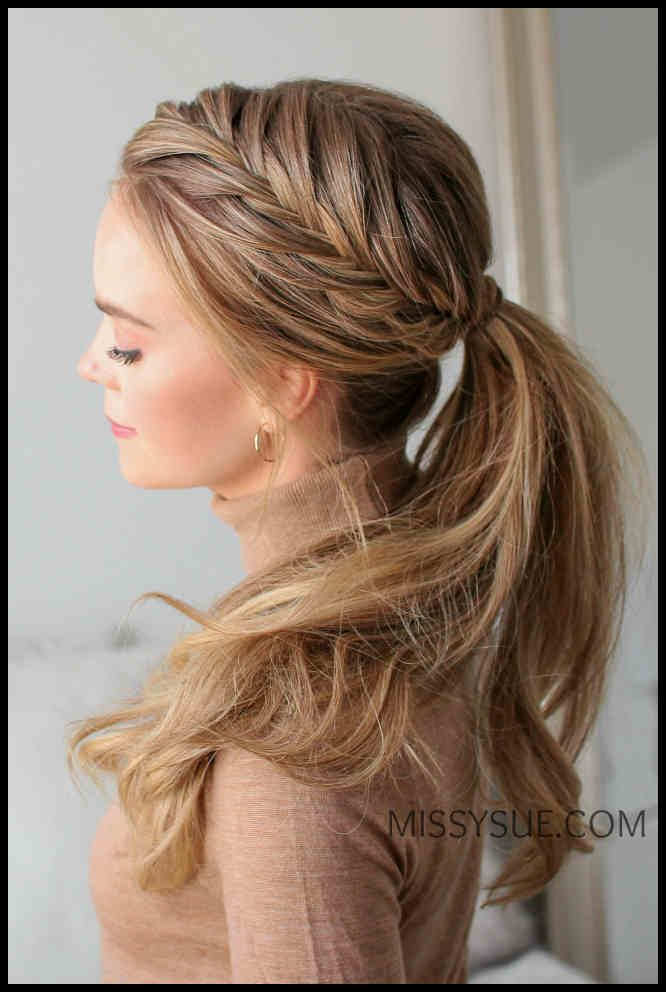 Fishtail French Pigtail Ponytail »Hairstyles 2019 New ...