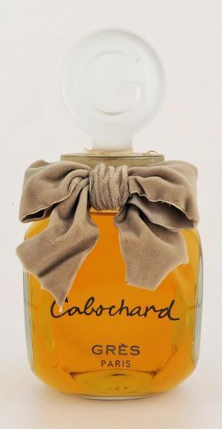 GRES «Cabochard» Factice Géant de décoration avec son noeud en velours gris. H: 21 cm - Castor - Hara SVV - 25/05/2013
