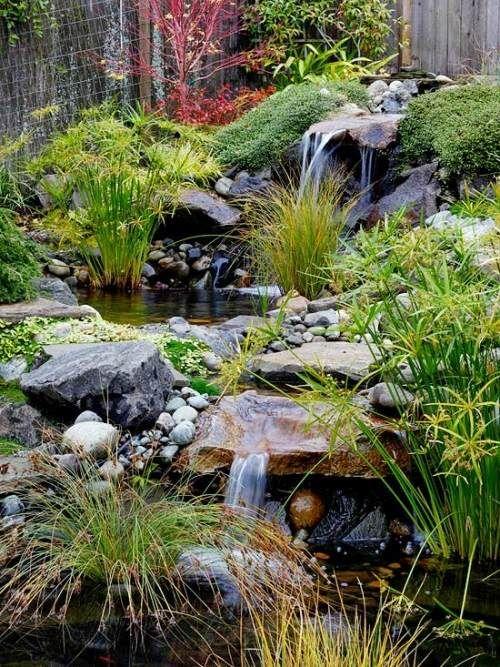 hauptelemente im japangarten selbstverwendung wasserfall