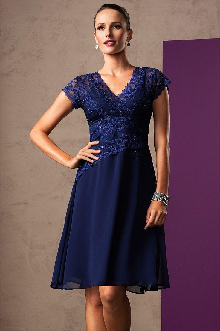 Dresses - Grace Hill Chiffon Skirt Lace Dress - EziBuy Australia - nylon/elastane/polyester - $99